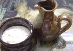 Flour and jar of Oil